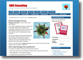 KMG Consulting Website