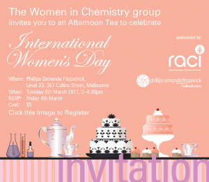Women in Chemistry invitation